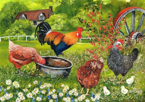 Painting - Cock Of The Walk by Val Stokes