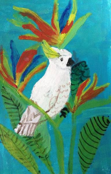 Wall Art - Painting - Cockatoo Paradise by Julie Thomas-Zucker