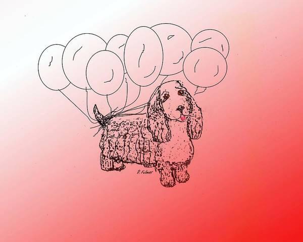 Drawing - Cocker Spaniel by Denise F Fulmer