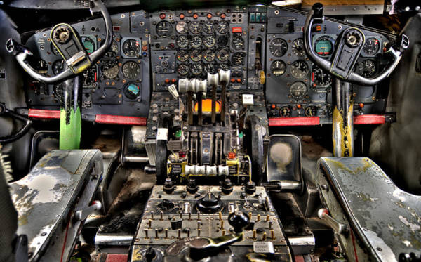 Gauge Photograph - Cockpit Controls Hdr by Kevin Munro