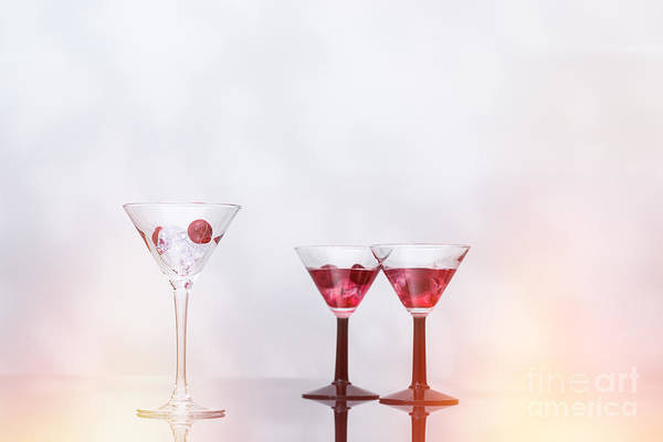 Crush Wall Art - Photograph - Cocktail Glass Filled With Ice  by Amanda Elwell