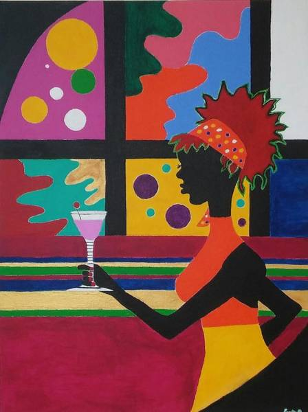 Eureka Painting - Cocktail Hour by Eureka Gross