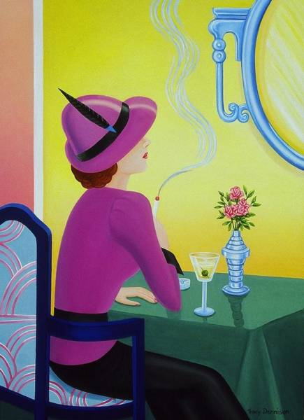 Painting - Cocktail Hour by Tracy Dennison