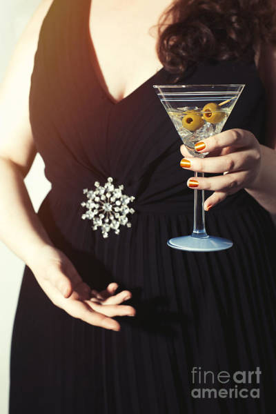 Hand Painted Photograph - Cocktail Party by Amanda Elwell