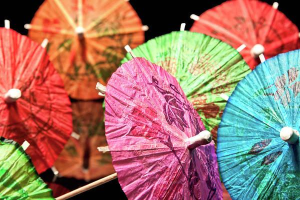 Adorn Photograph - Cocktail Umbrellas Iv by Tom Mc Nemar