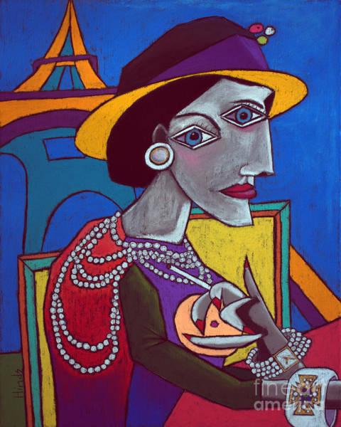 Fashion Designer Wall Art - Painting - Coco Chanel by David Hinds