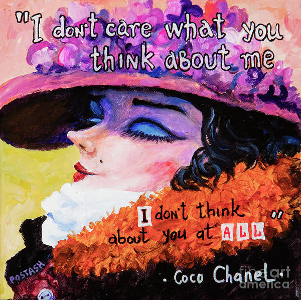 Painting - Coco Chanel by Igor Postash