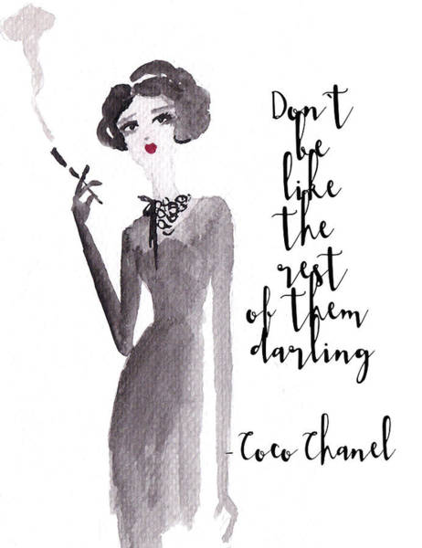 Fashion Drawing - Coco Says by Elizabeth Szekely