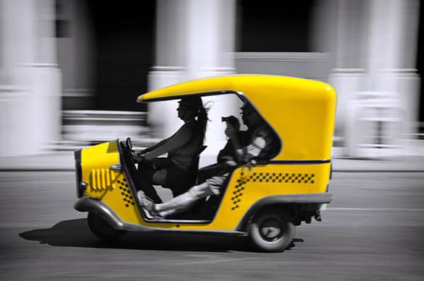 Cuba Photograph - Coco Taxi by Claude LeTien