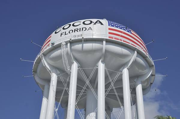 Photograph - Cocoa Florida Water Tower by Bradford Martin