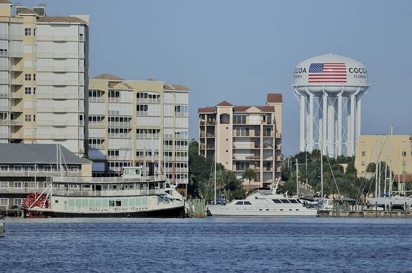 Photograph - Cocoa Village Marina And Surroundings From The Indian River by Bradford Martin