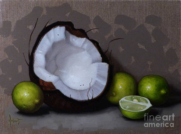 Coconut Painting - Coconut And Key Limes V by Clinton Hobart