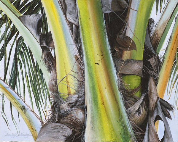 Coconut Painting - Coconut Branches by Wendy Ballentyne