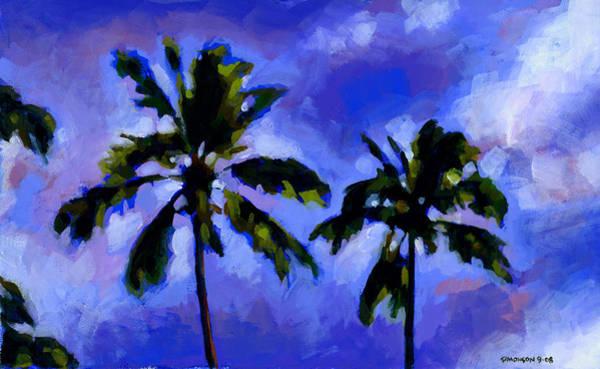 Coconut Tree Painting - Coconut Palms 1 by Douglas Simonson
