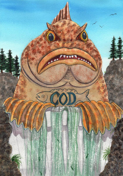Painting - Cod Dam by Catherine G McElroy