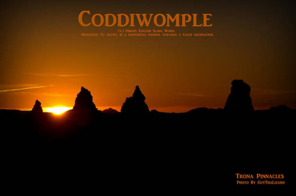 Photograph - Coddiwomple Trona Pinnacles by Guy Hoffman