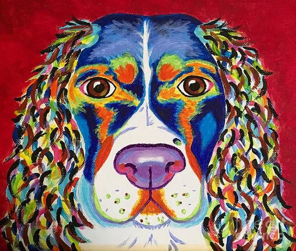 Welsh Springer Spaniel Painting - Cody by Sarafina Amodt