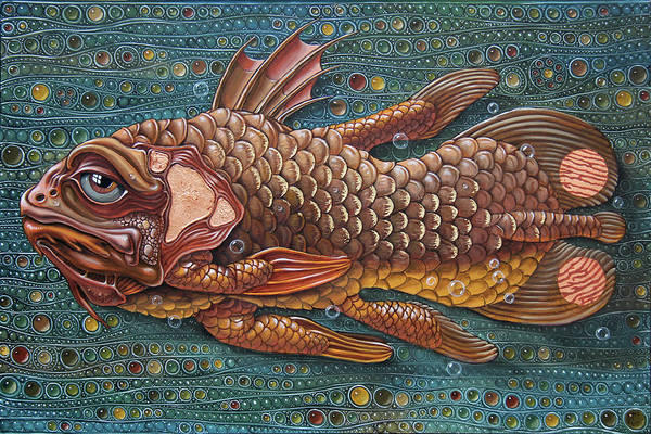 Painting - Coelacanth by Victor Molev