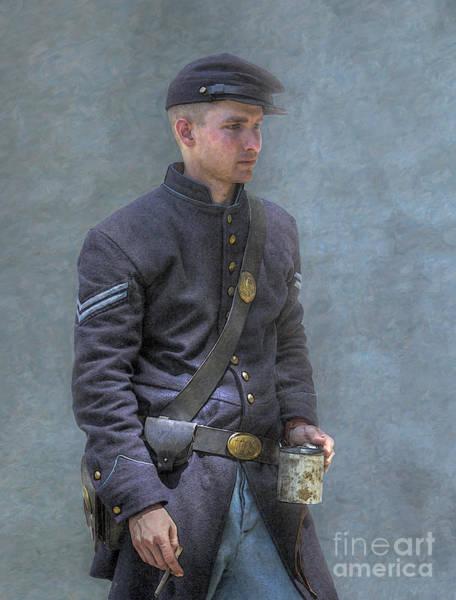Coffee And A Cigar Union Corporal Civil War Art Print