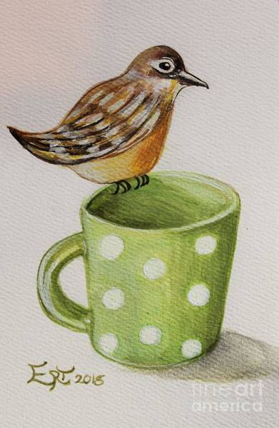 Painting - Coffee And A Friend by Elizabeth Robinette Tyndall