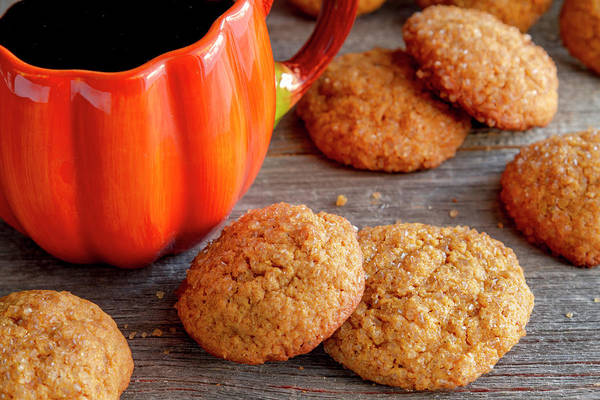 Photograph - Coffee And Pumpkin Spice Cookies by Teri Virbickis