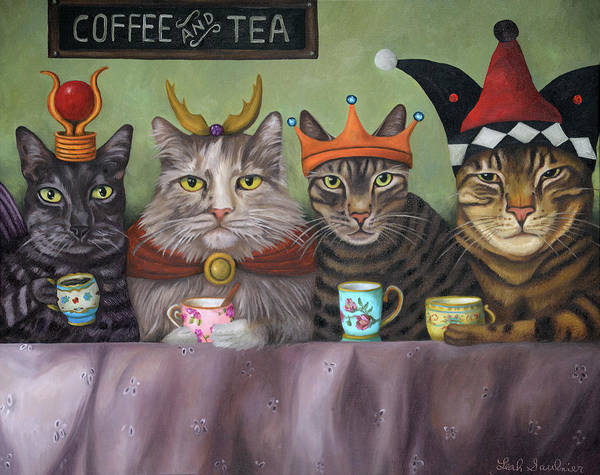 Painting - Coffee And Tea by Leah Saulnier The Painting Maniac