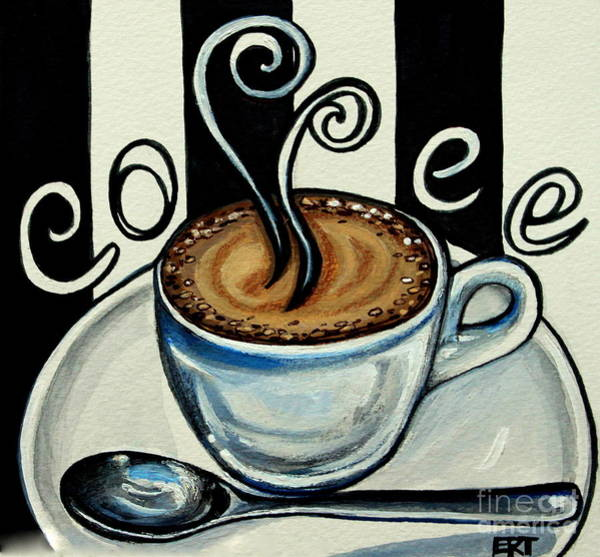 Painting - Coffee At The Cafe by Elizabeth Robinette Tyndall
