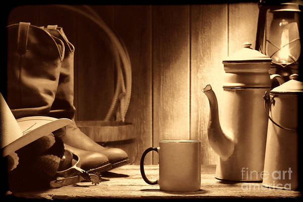 Photograph - Coffee At The Ranch by American West Legend By Olivier Le Queinec