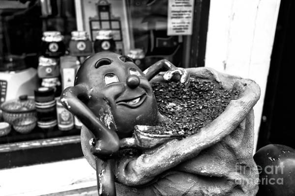 Wall Art - Photograph - Coffee Bean Man Mono by John Rizzuto