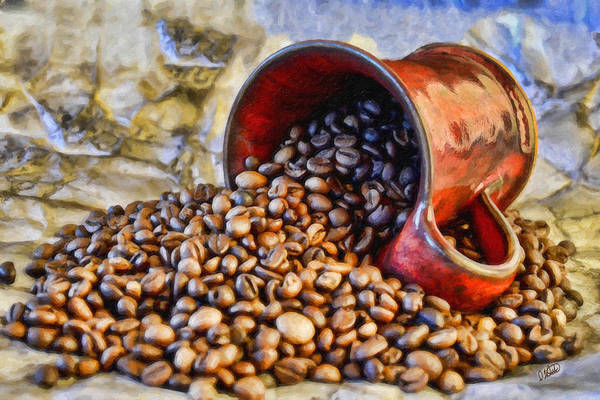 Painting - Coffee Beans And Cup Still Life by Dean Wittle