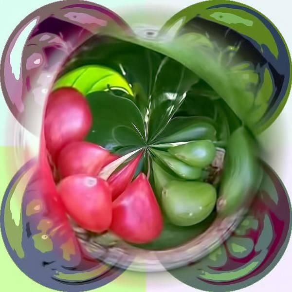 Mixed Media - Coffee Beans Sphere by Pamela Walton