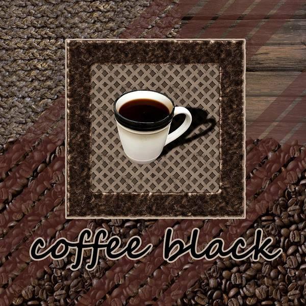 Photograph - Coffee Black - Coffee Art by Anastasiya Malakhova