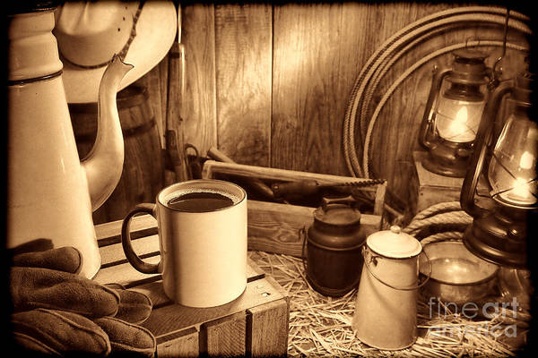 Photograph - Coffee Break At The Chuck Wagon by American West Legend By Olivier Le Queinec