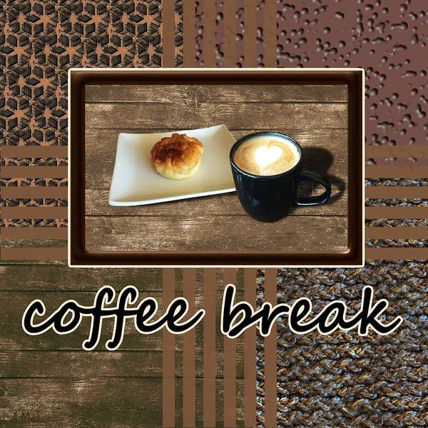 Photograph - Coffee Break - Coffee Art by Anastasiya Malakhova