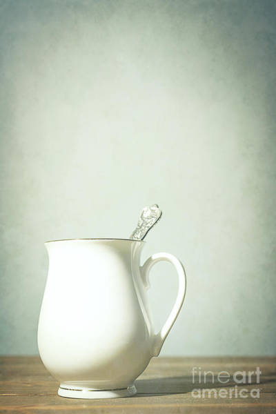 Wall Art - Photograph - Coffee Cup With Spoon by Amanda Elwell