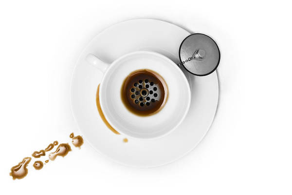 Cup Wall Art - Photograph - Coffee Drain by Dennis Larsen
