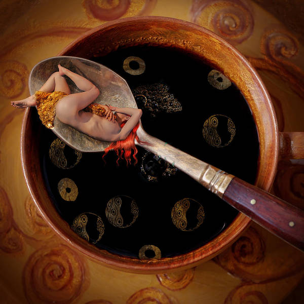 Wall Art - Digital Art - Coffee For Mister Klimt by Floriana Barbu