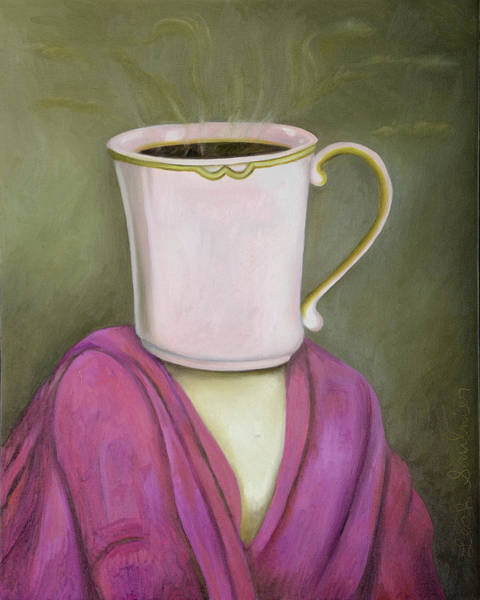 Painting - Coffee Head 2 by Leah Saulnier The Painting Maniac