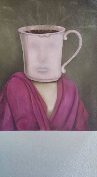 Painting - Coffee Head 2 Wip by Leah Saulnier The Painting Maniac