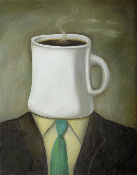 Painting - Coffee Head by Leah Saulnier The Painting Maniac