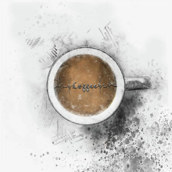 Drawing - Coffee Heartbeat by Christina VanGinkel