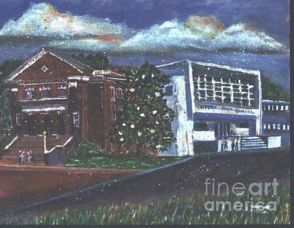 Allman Painting - Coffee High School Florence Ala by Helen Allman