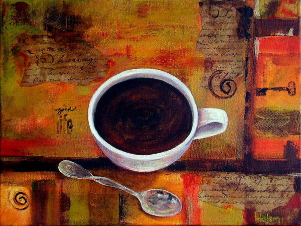 Painting - Coffee I by Greg and Linda Halom