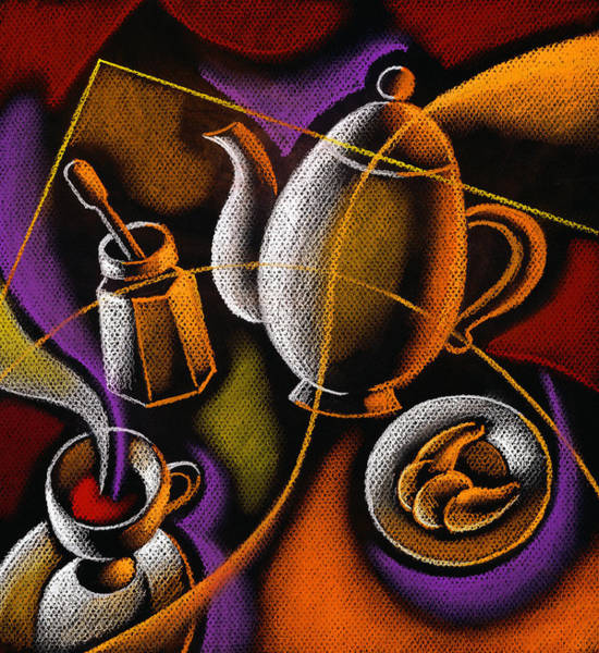 Food Groups Painting - Coffee by Leon Zernitsky