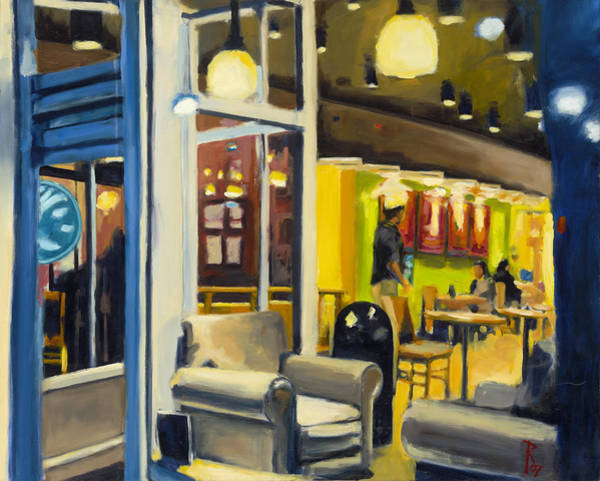 Painting - Coffee On 5th Ave by Robert Reeves