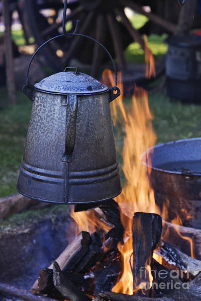 Camping Wall Art - Photograph - Coffee Pot Over An Open Fire by Jeremy Woodhouse
