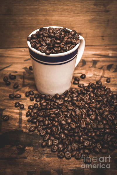 Wall Art - Photograph - Coffee Shop Cup And Beans by Jorgo Photography - Wall Art Gallery