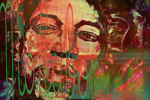 Purple Haze Digital Art - Coffee Shop Jimi by Christel Roelandt