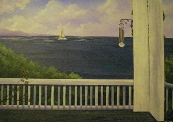 Wind Chime Painting - Coffee With A View by Glen Mcclements