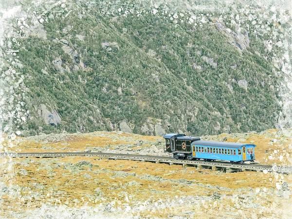 Digital Art - Cog Railroad Train. by Rusty R Smith